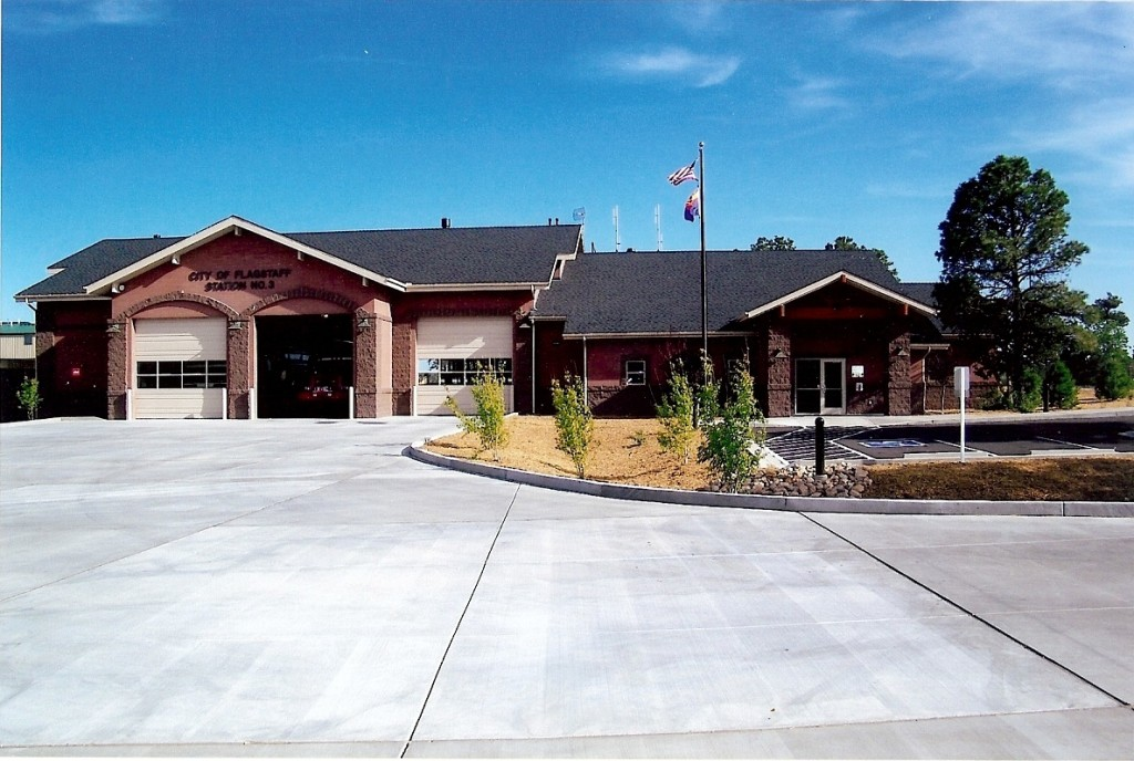 Flagstaff AZ Concrete Job for Fire Station